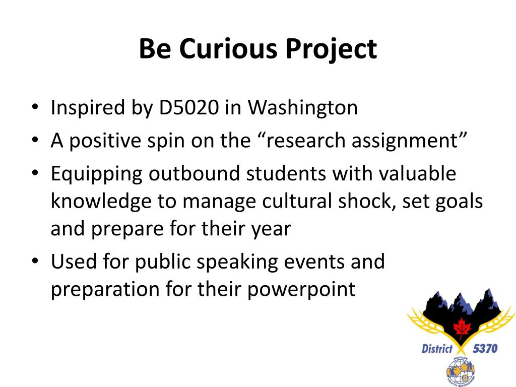 Be Curious Project
