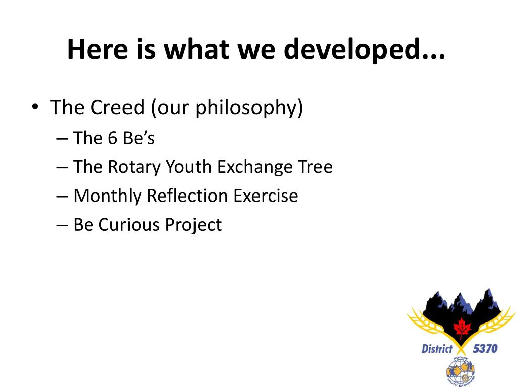 Here is what we developed...