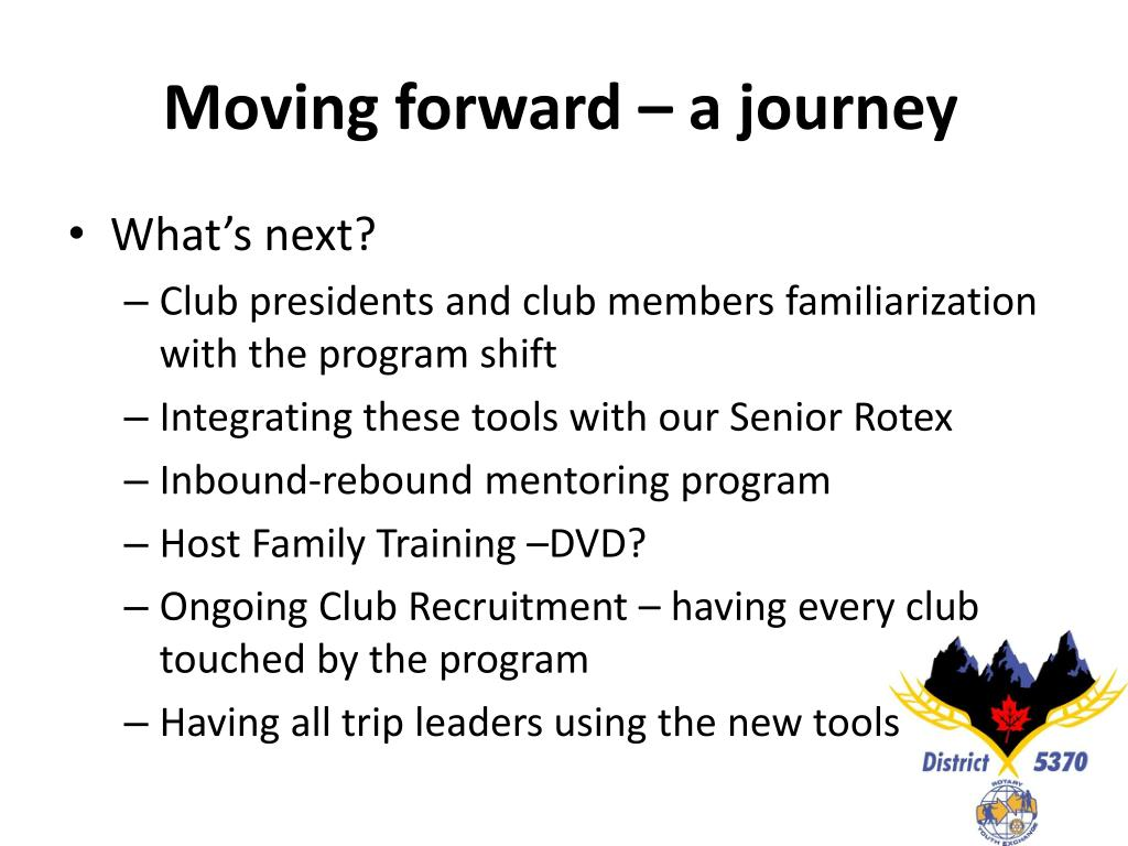 Moving forward – a journey