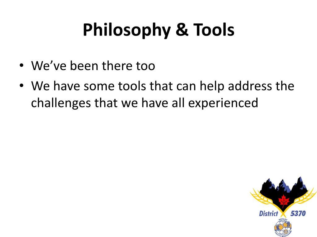 Philosophy & Tools