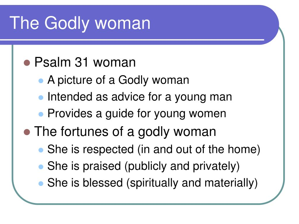 The Godly woman
