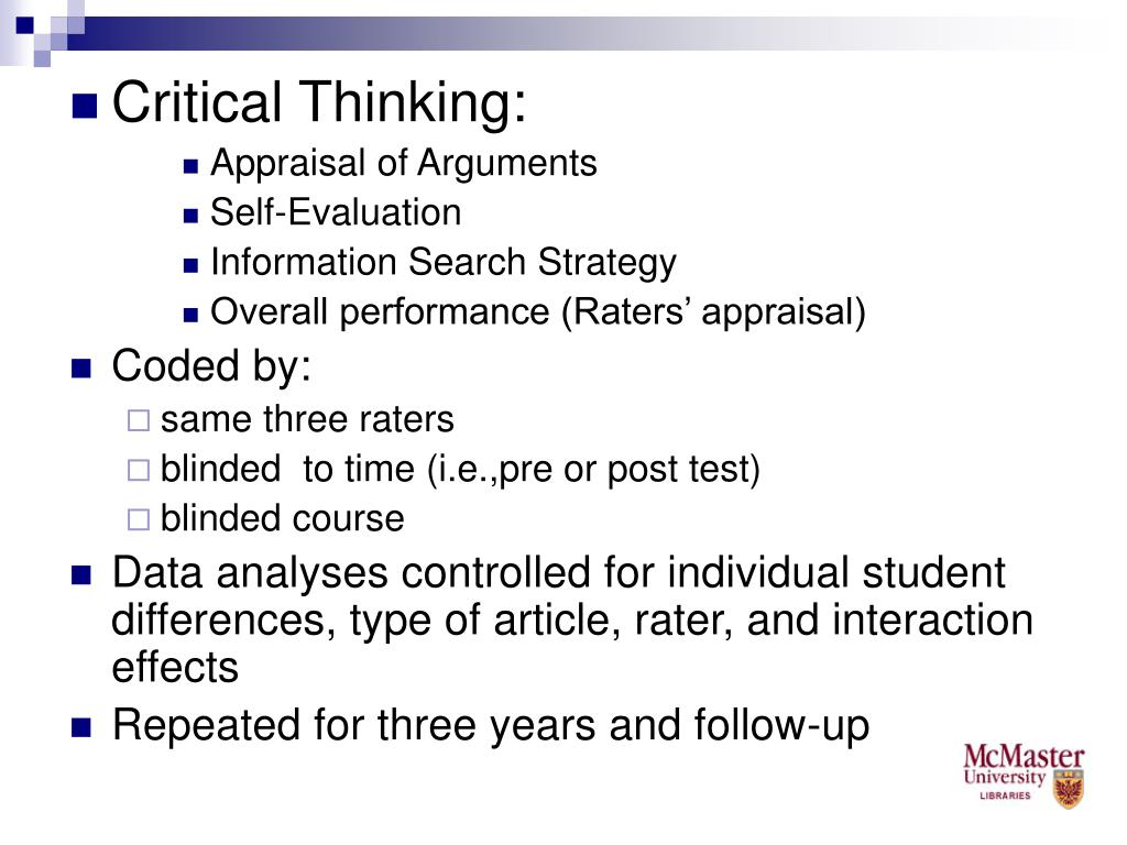 Critical Thinking: