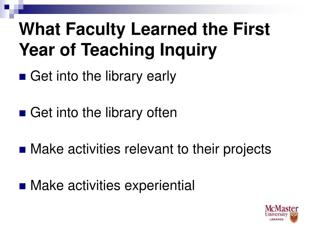 What Faculty Learned the First Year of Teaching Inquiry
