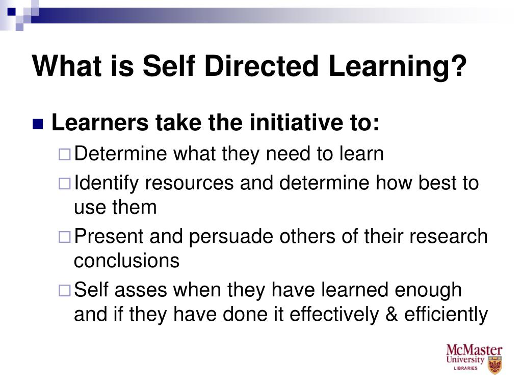 What is Self Directed Learning?