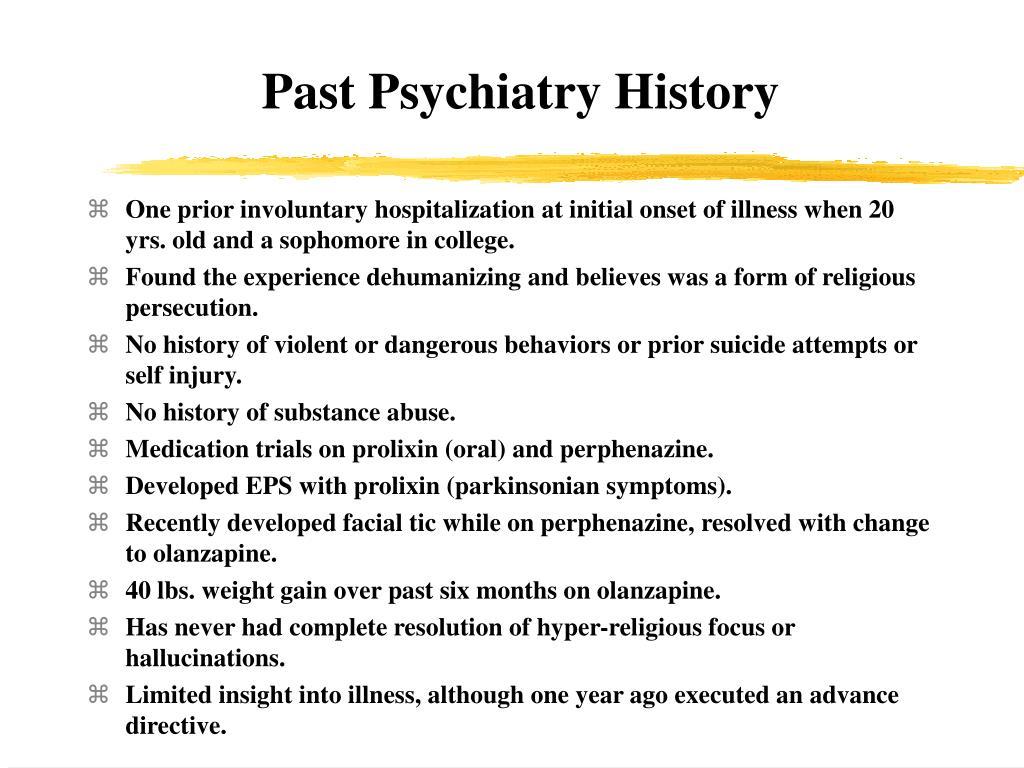 Past Psychiatry History