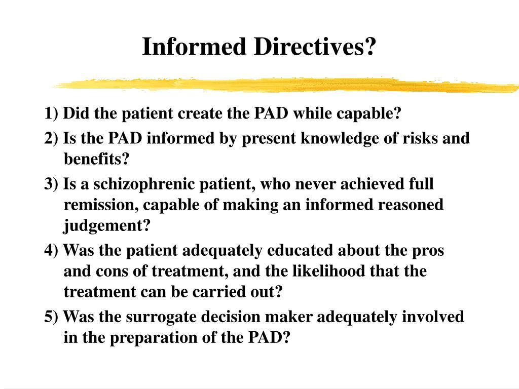 Informed Directives?