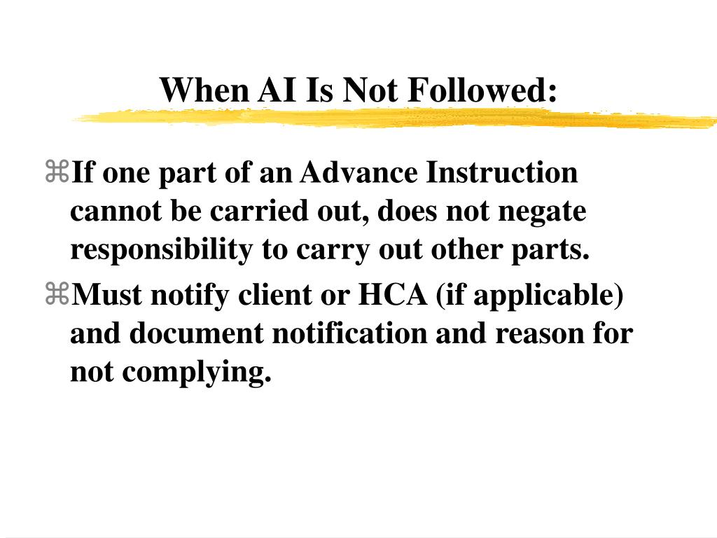 When AI Is Not Followed:
