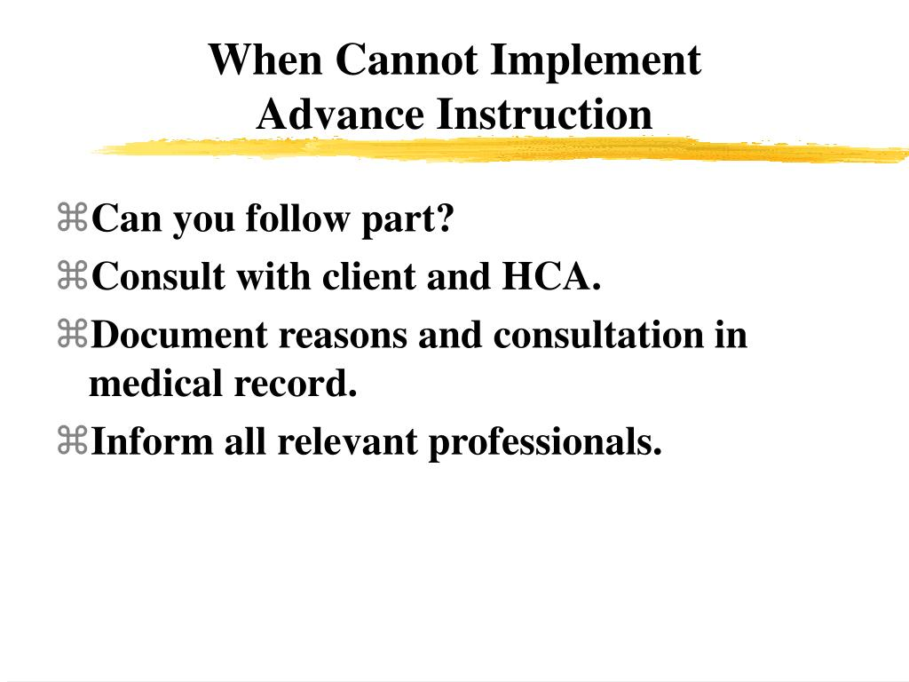 When Cannot Implement