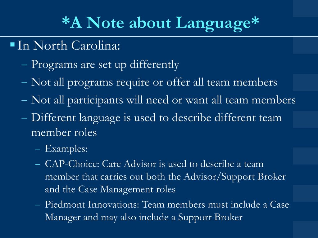 *A Note about Language*