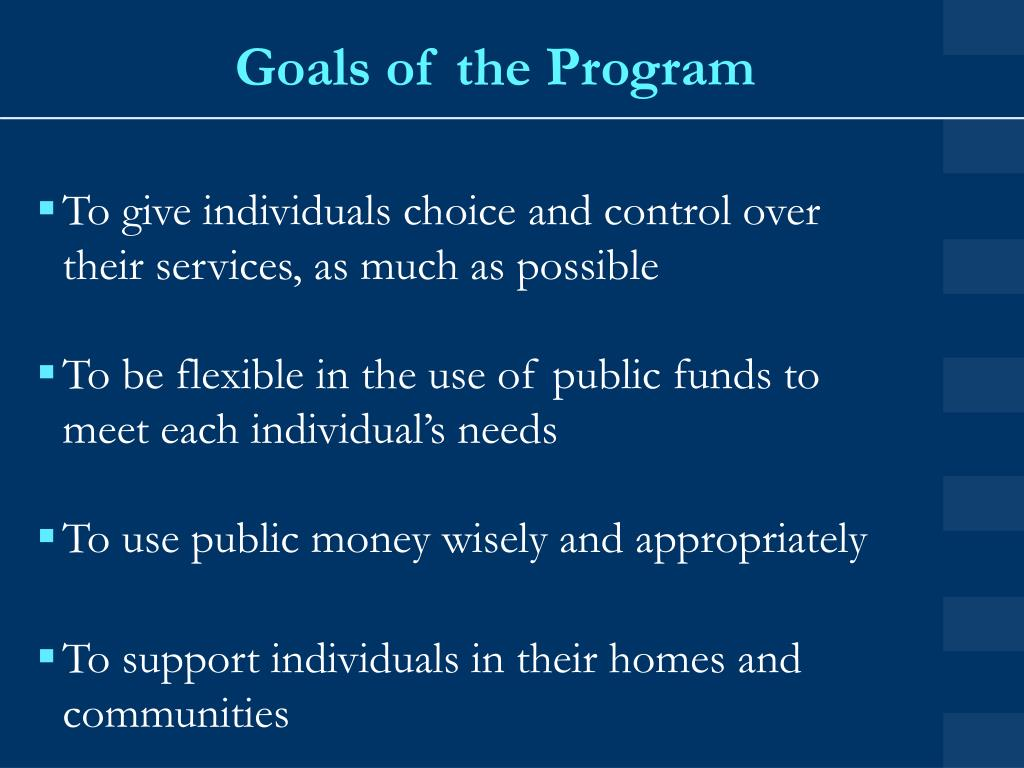 Goals of the Program