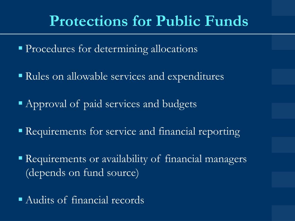 Protections for Public Funds
