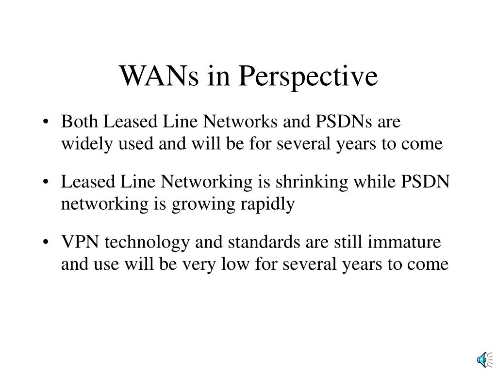 WANs in Perspective