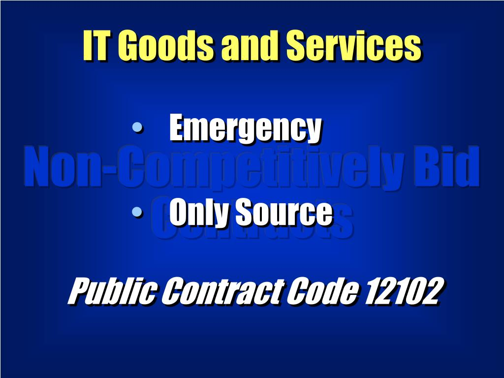 IT Goods and Services