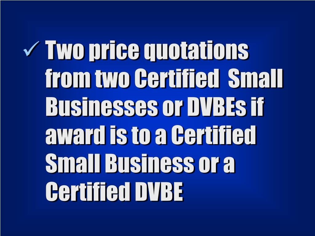 Two price quotations