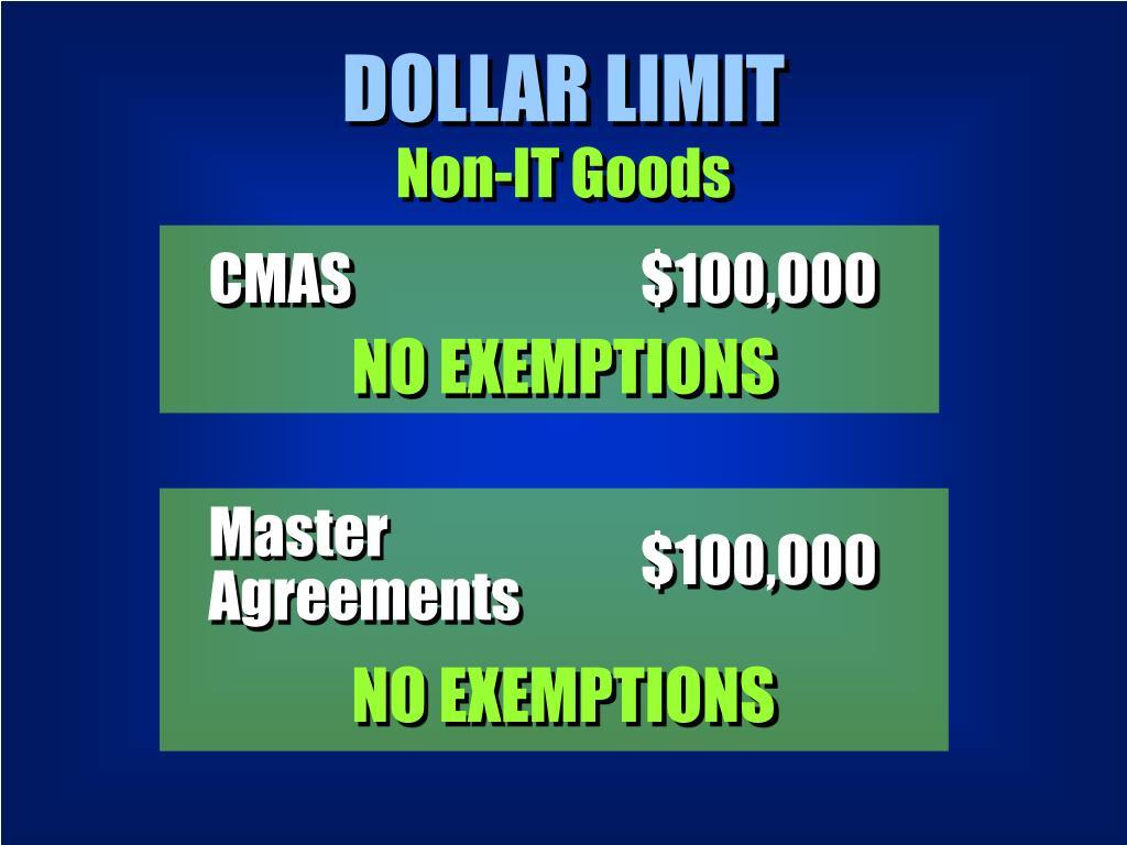 DOLLAR LIMIT