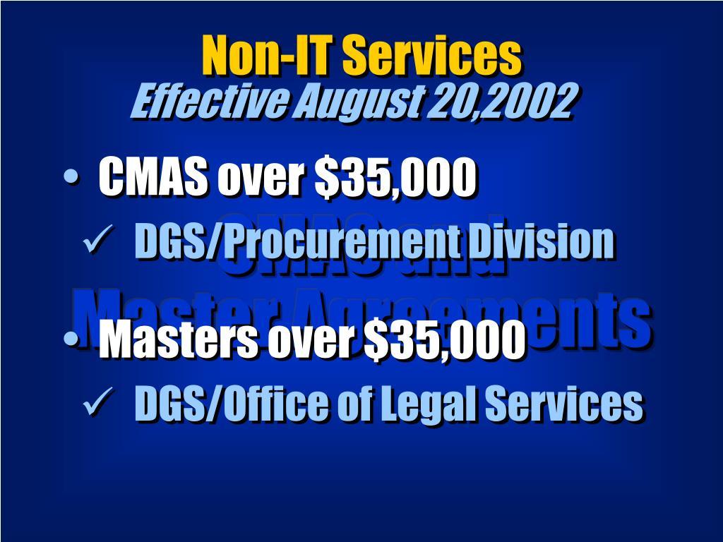 Non-IT Services