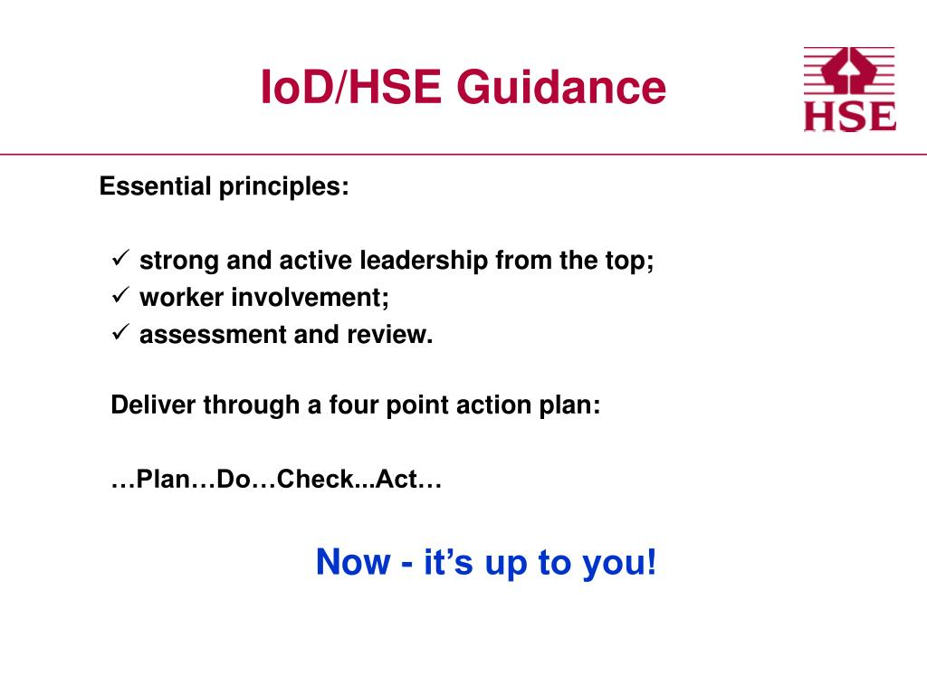 IoD/HSE Guidance