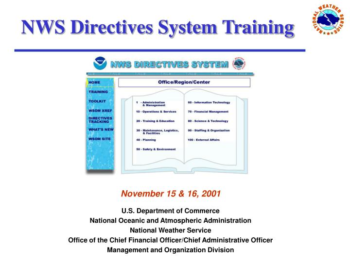 Nws directives system training