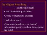 intelligent searching17