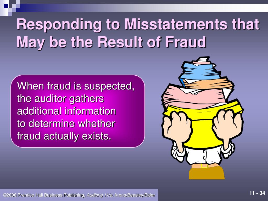 Responding to Misstatements that May be the Result of Fraud