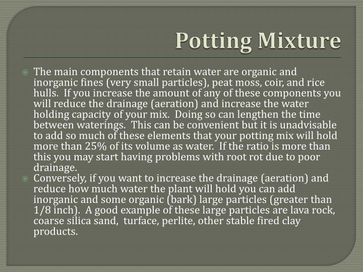 Potting mixture