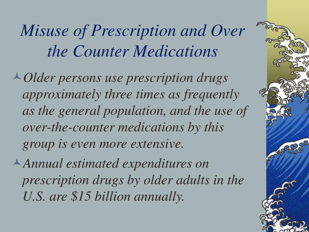 Misuse of Prescription and Over the Counter Medications