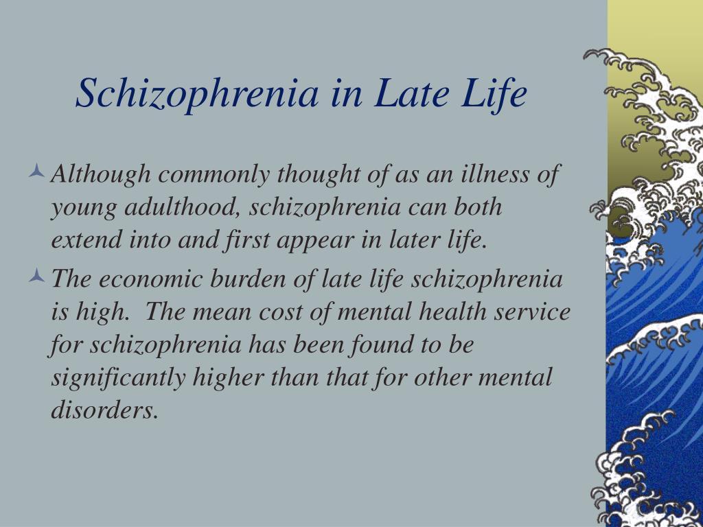 Schizophrenia in Late Life