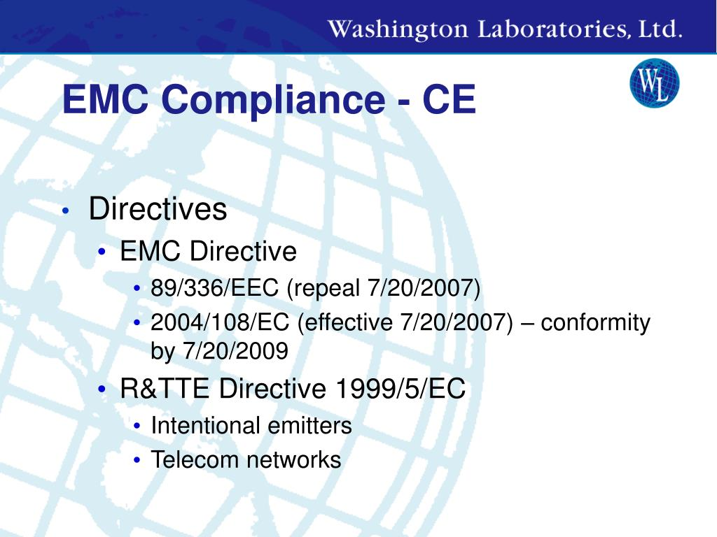 EMC Compliance - CE