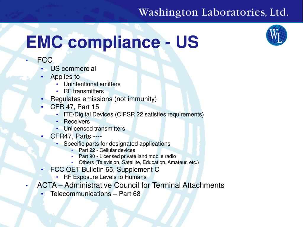 EMC compliance - US
