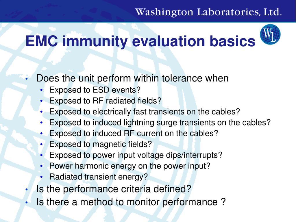 EMC immunity evaluation basics