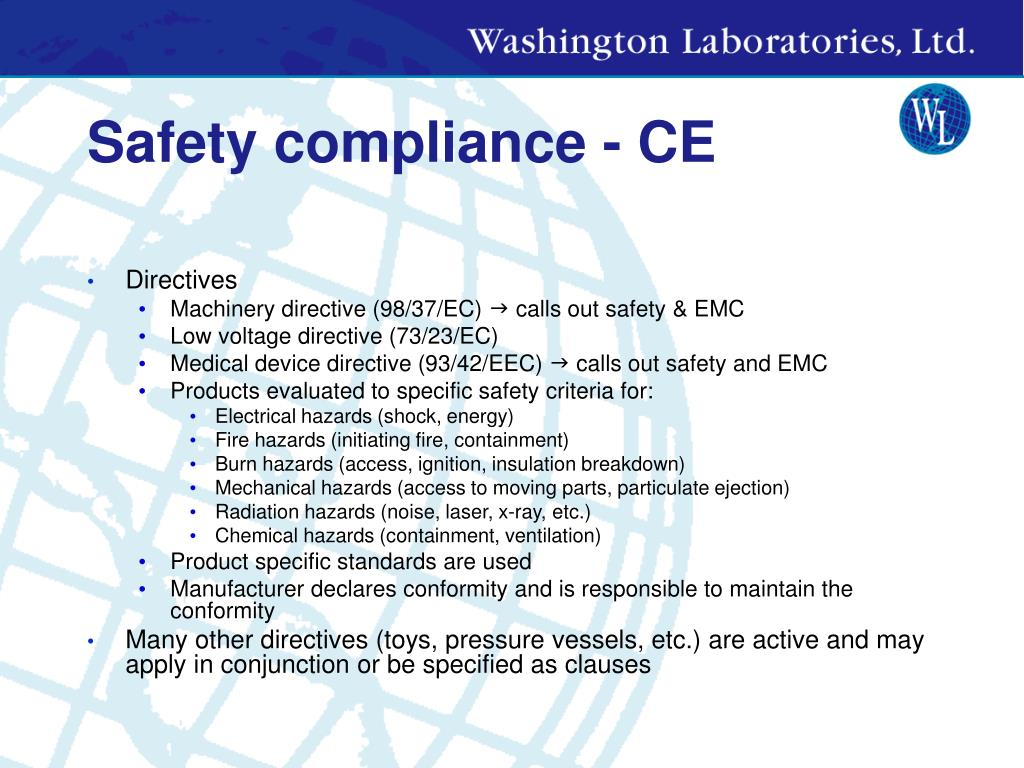 Safety compliance - CE