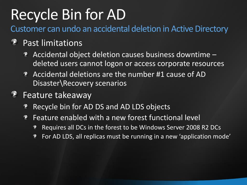 Recycle Bin for AD