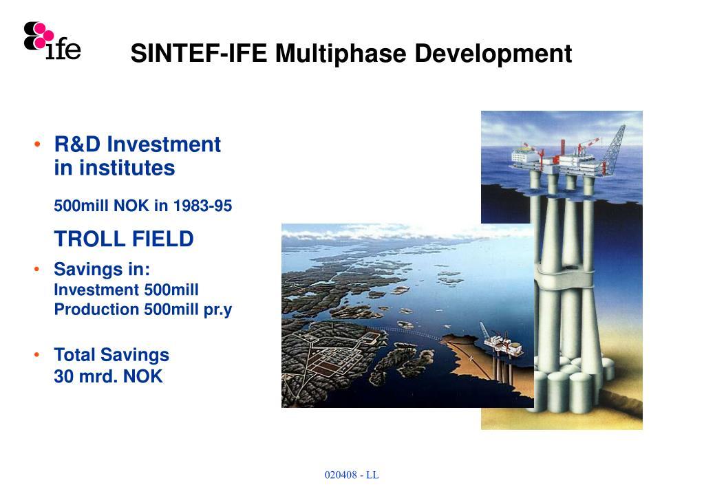 SINTEF-IFE Multiphase Development