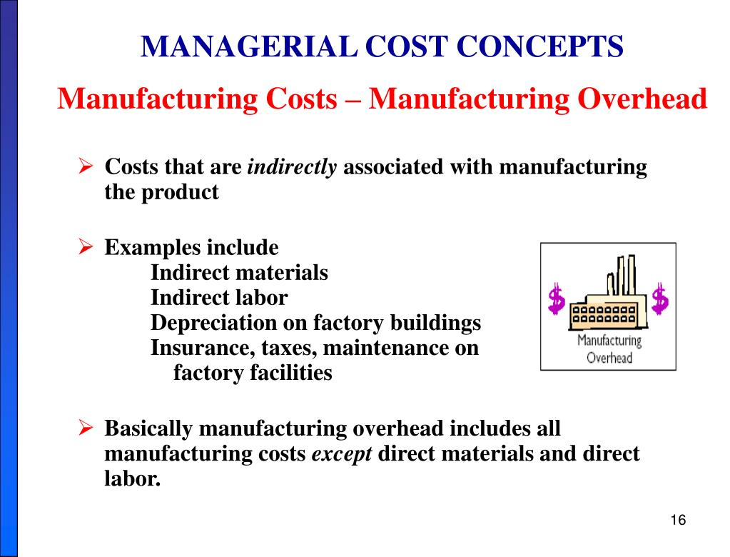 MANAGERIAL COST CONCEPTS