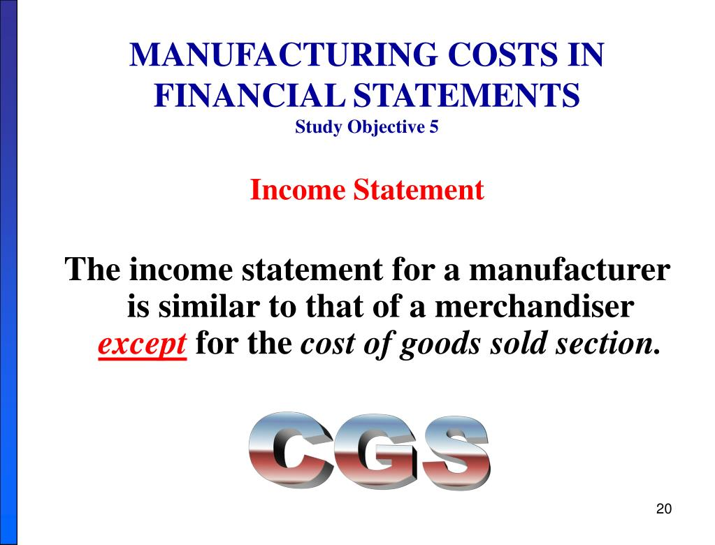 MANUFACTURING COSTS IN