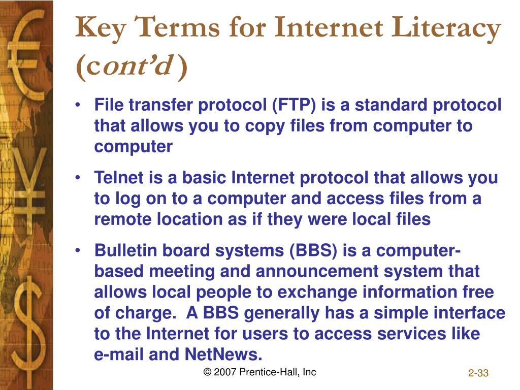 Key Terms for Internet Literacy (c