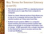 key terms for internet literacy c ont d