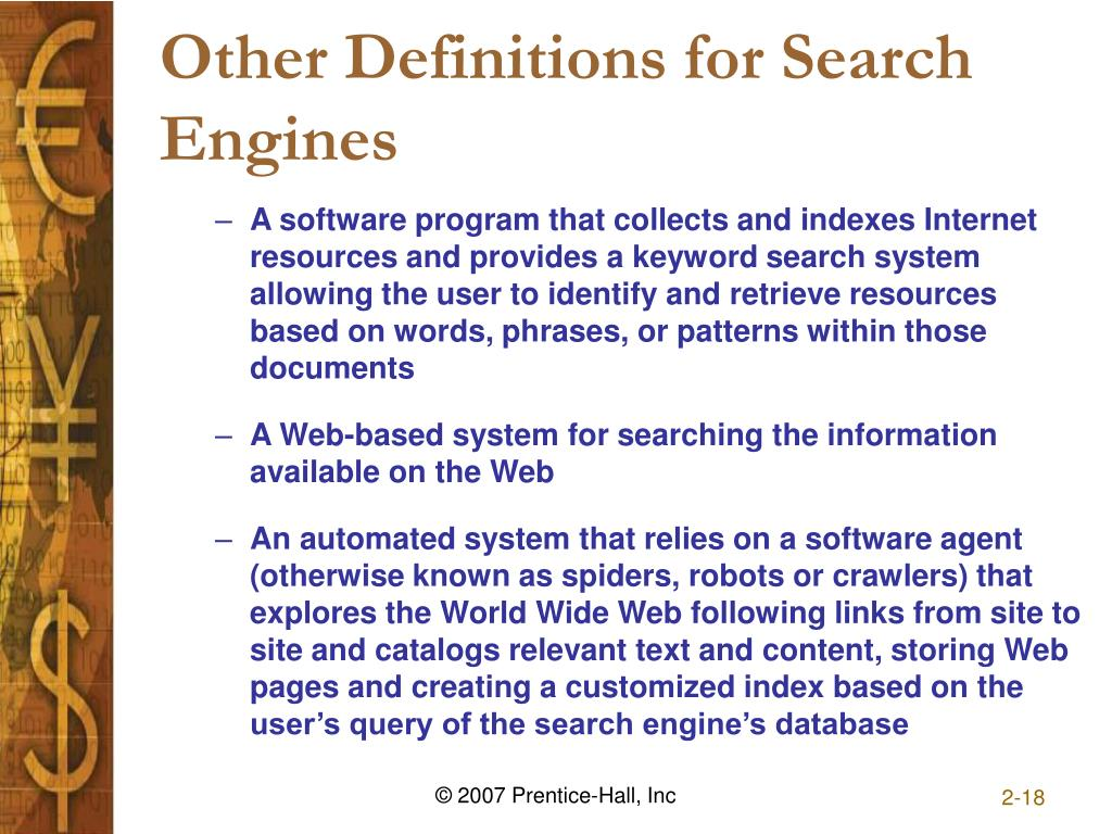 Other Definitions for Search Engines