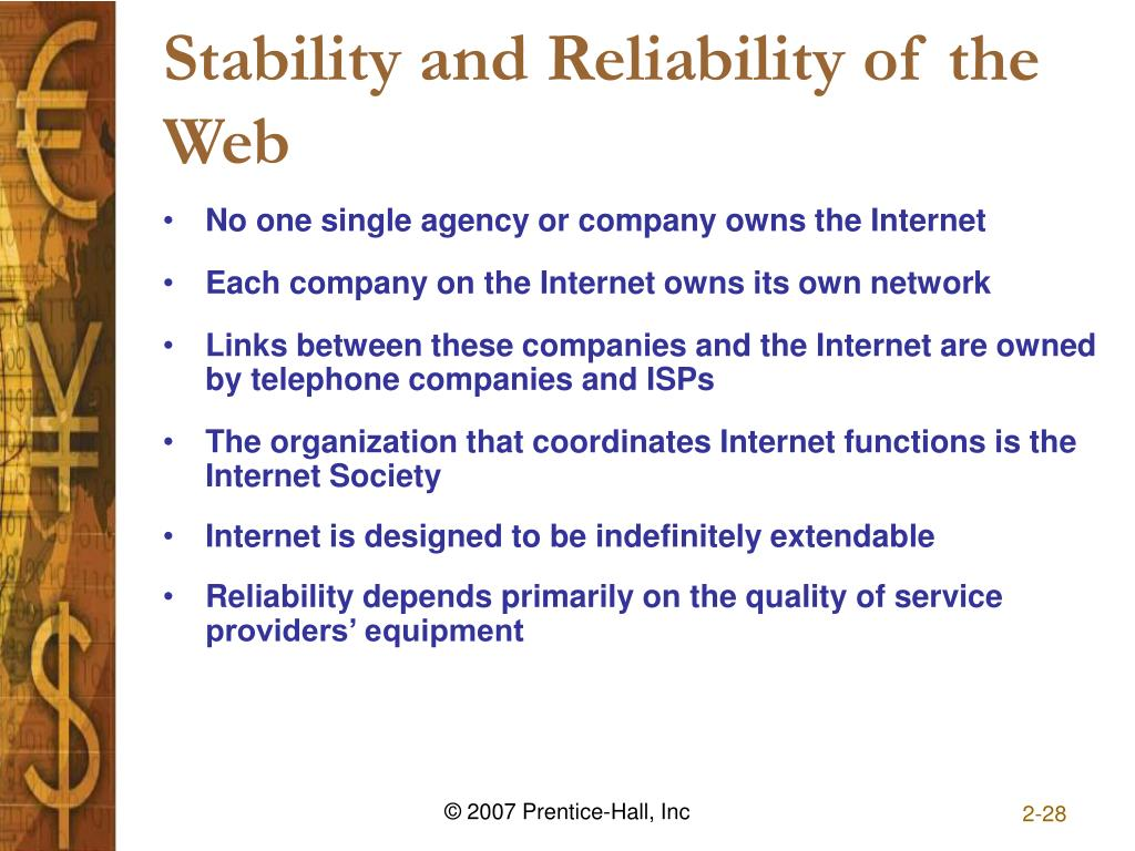 Stability and Reliability of the Web