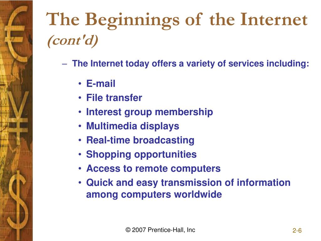 The Beginnings of the Internet