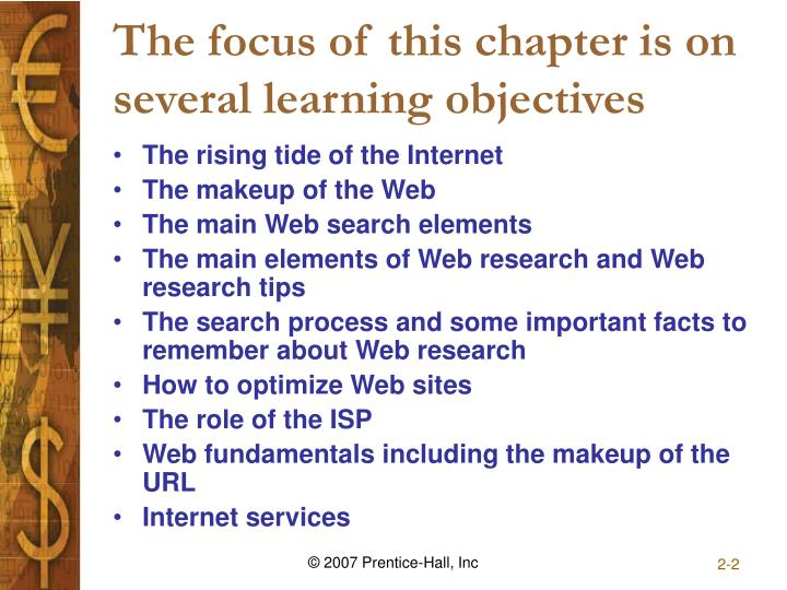 The focus of this chapter is on several learning objectives