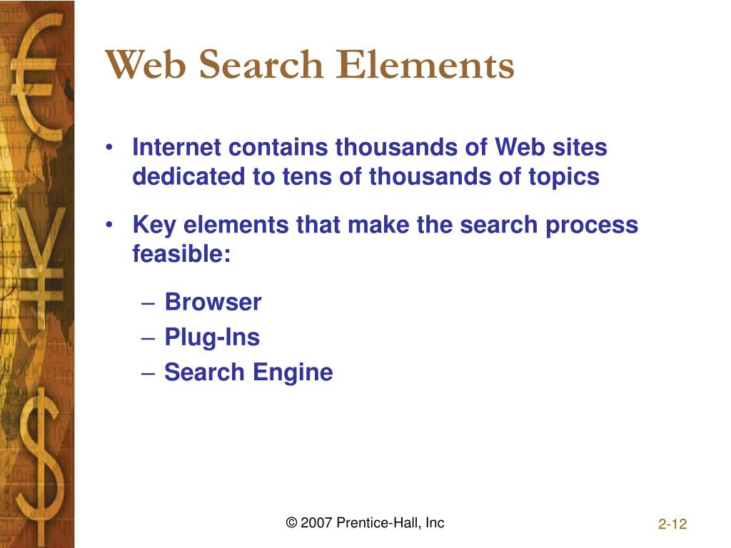 Web Search Elements