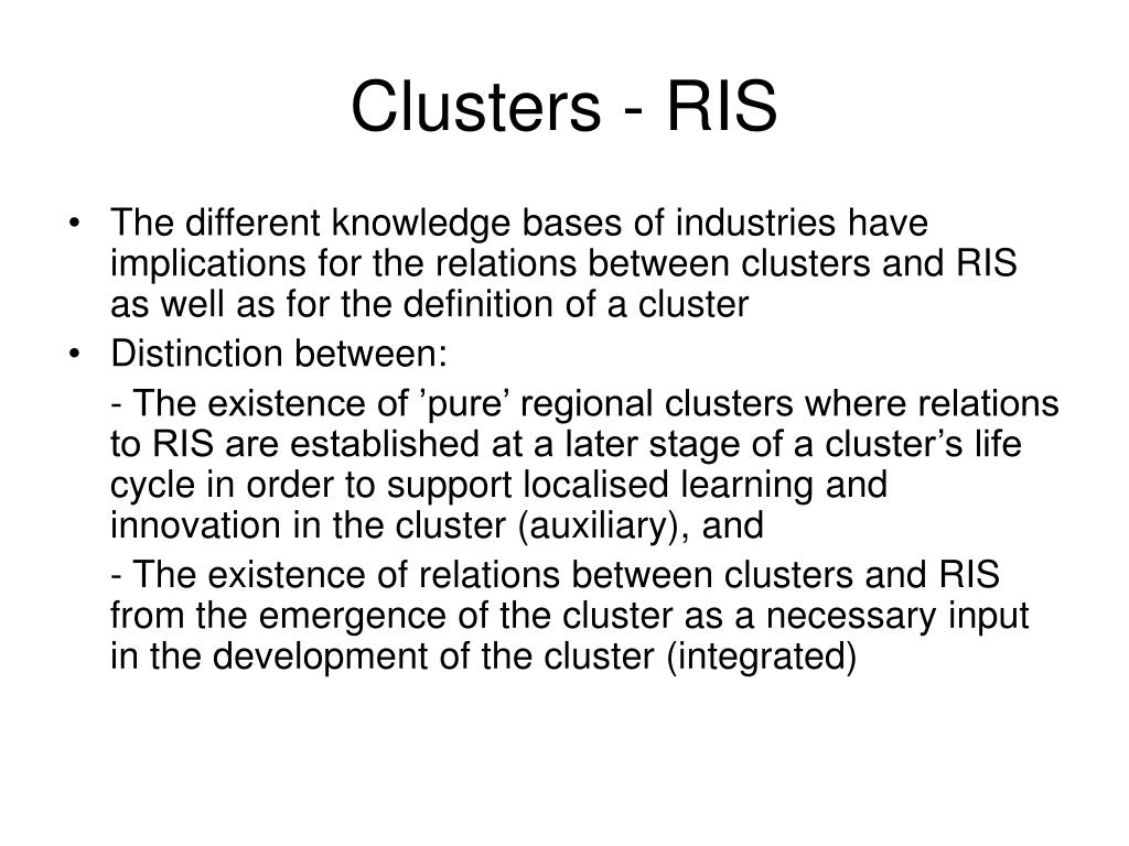 Clusters - RIS