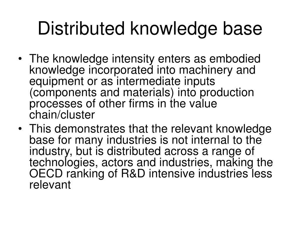 Distributed knowledge base
