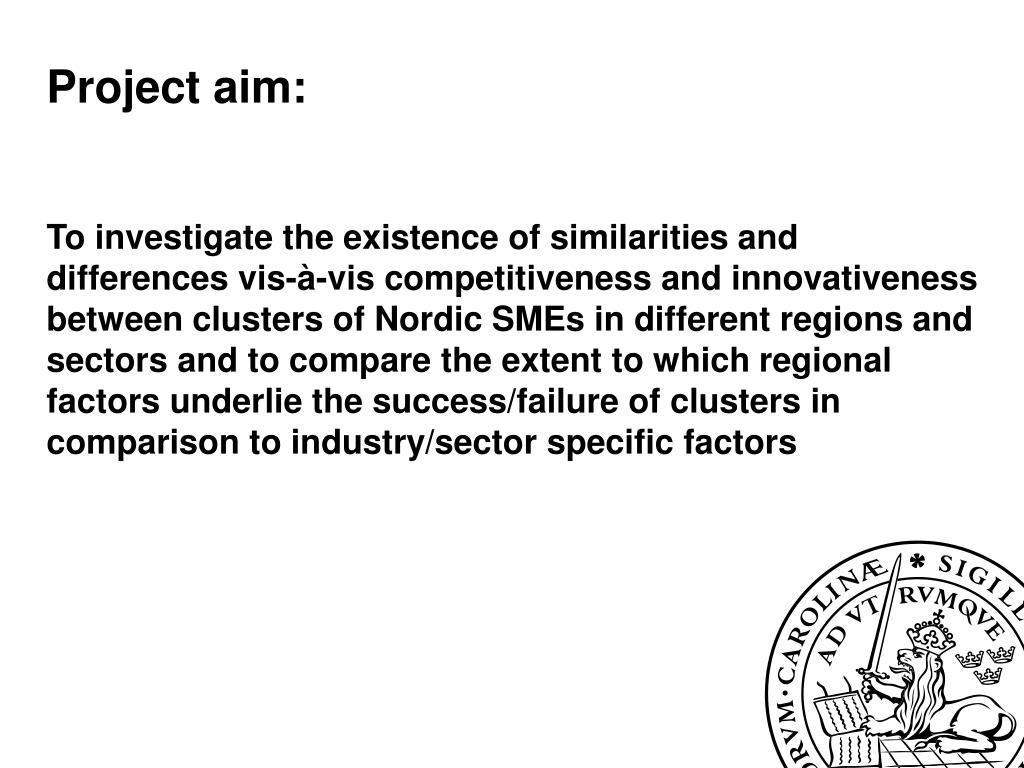 Project aim: