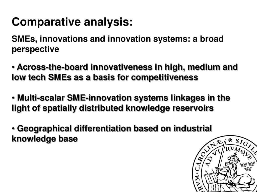 Comparative analysis: