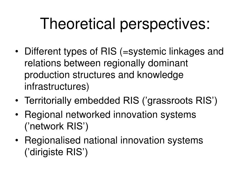 Theoretical perspectives: