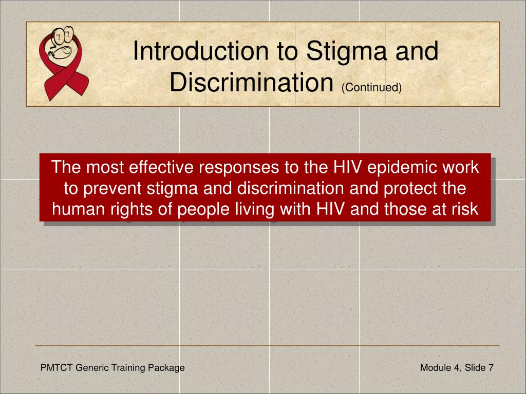 Introduction to Stigma and Discrimination
