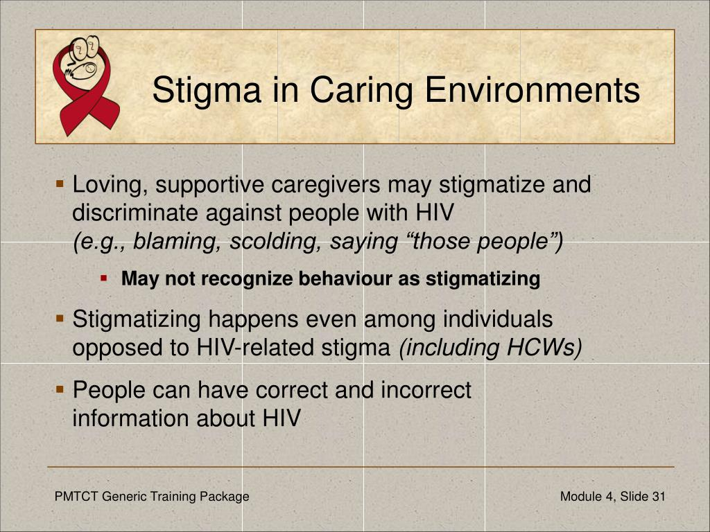 Stigma in Caring Environments