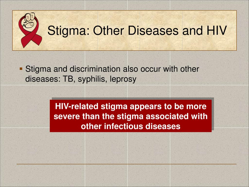 Stigma: Other Diseases and HIV